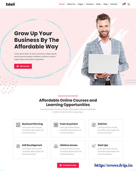 Edali-Elementor-Online-Course-Theme