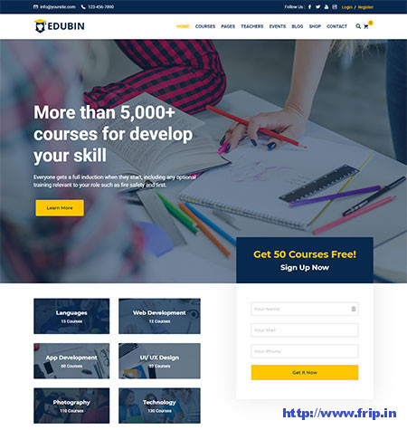 Edubin-Education-LMS-WordPress-Theme