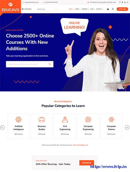 Educavo-Online-Course-WordPress-Theme