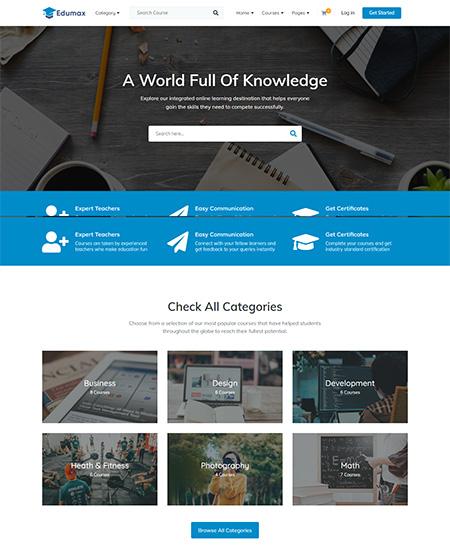 Edumax-Online-Course-Portal-WordPress-Theme