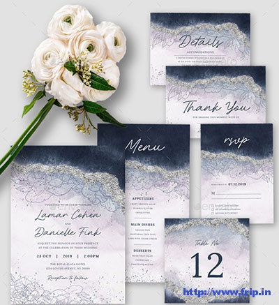 Elegant-Blue-Wedding-Invitation-template