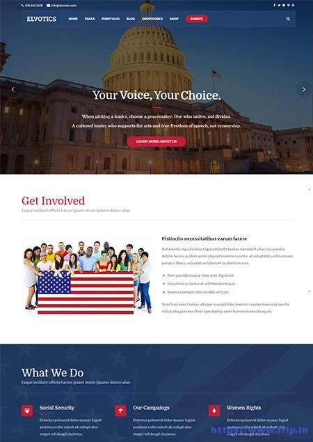 Elvotics-Political-WordPress-Theme