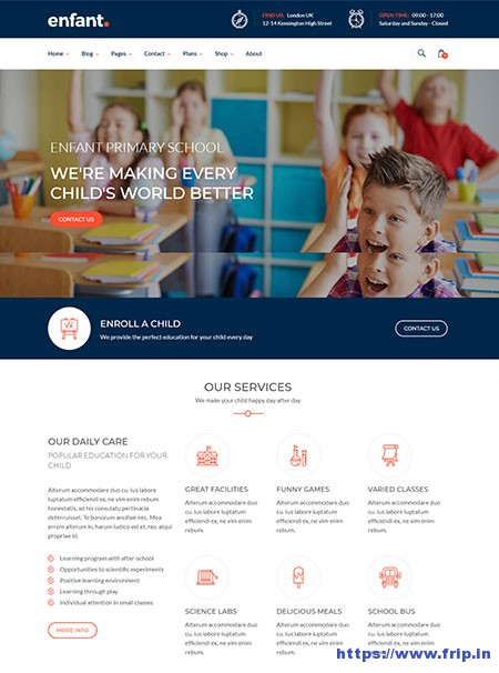 Enfant-Kindergarten-WordPress-Theme