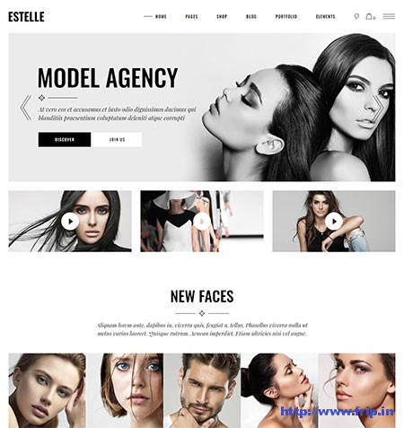 Estelle-Modelling-Agency-Theme