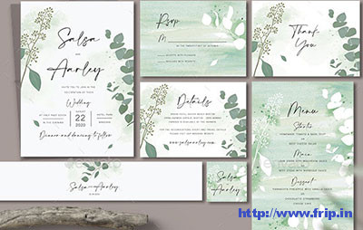Eucalyptus-Wedding-Invitation-Set