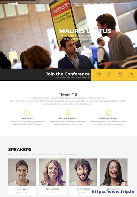 Eventr-One-Page-WordPress-Theme