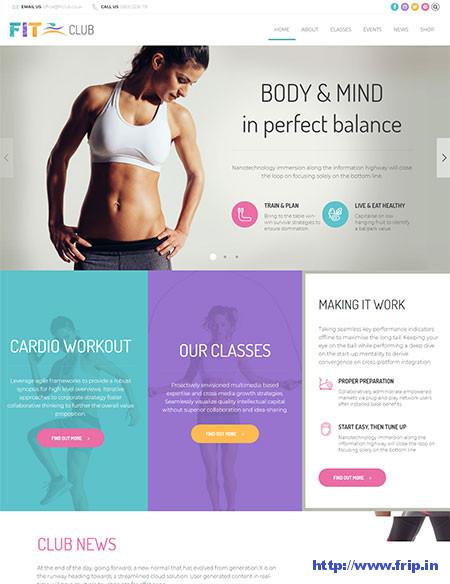 Fitness-Club-WordPress-Theme