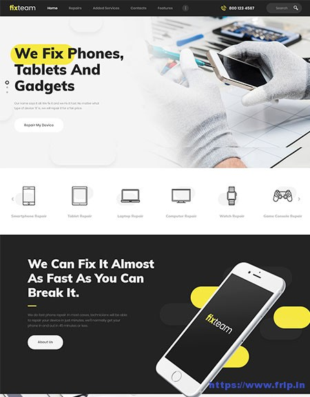 FixTeam-Electronics-Repair-WordPress-Theme