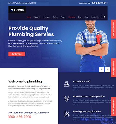 Fixnow-Plumbing-WordPress-Theme