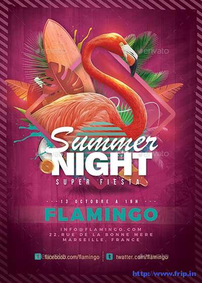 Flamingo-Summer-Party-Flyer