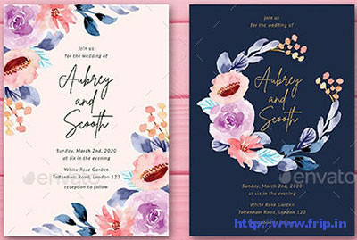 Floral-Watercolor-Wedding-Invitation