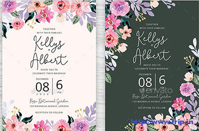 Flower-Watercolor-Wedding-Invitation-template