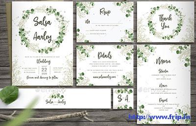 Foliage-Wedding-Invitation-template