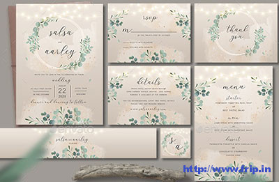 Foliage-Wedding-Invitation-Set