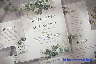 Foliage-Wedding-Invitation - template
