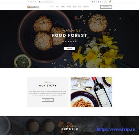 FoodForest-Restaurant-PSD-Template
