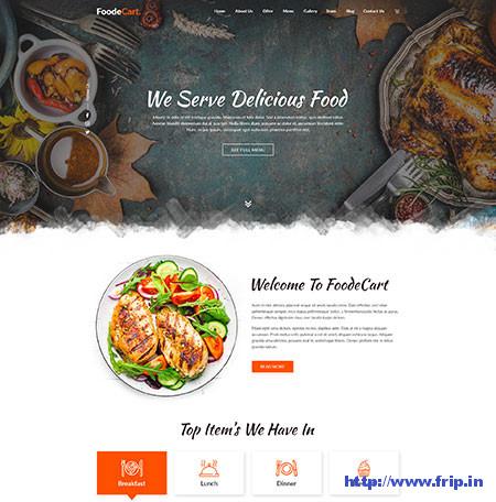 Foodecart-Restaurant-PSD-Templates