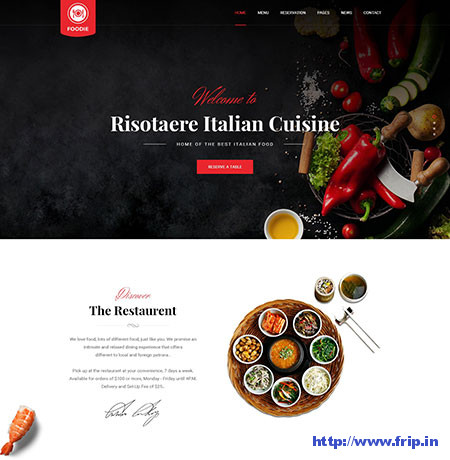 Foodie-Restaurant-PSD-Template