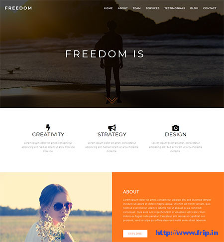 Freedom-One-Page-WordPress-Theme