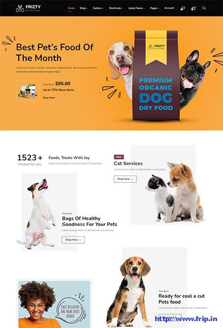Frizty-Pet-Shop-WooCommerce-Theme