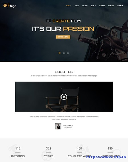 Ftage-Film-Studio-WordPress-Theme