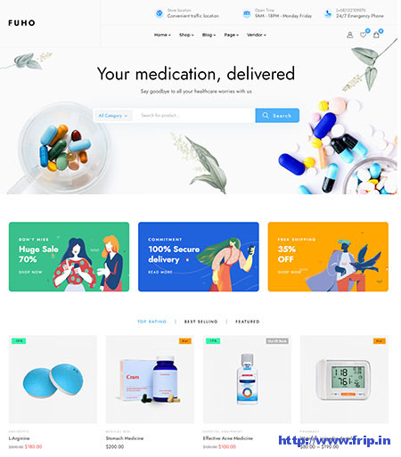 Fuho-Pharmacy-Store-Theme