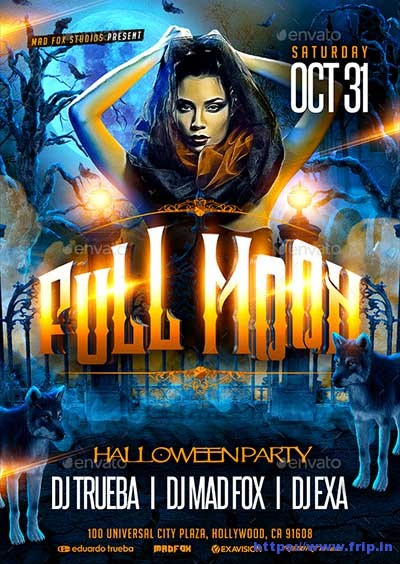 Full-Moon-Halloween-Party-Flyer