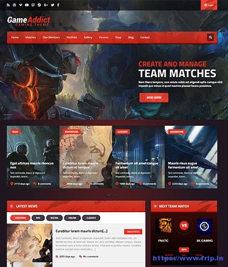 Game-Addict-Gaming-WordPress-Theme