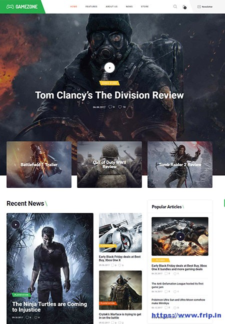 Gamezone-Gaming-WordPress-Theme