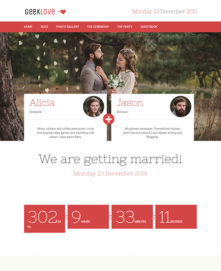 GeekLove-Responsive-WordPress-Wedding-Theme