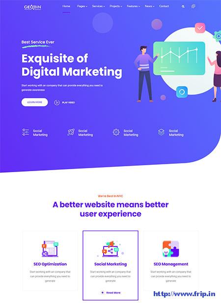 Digital Marketing Agency WordPress Themes