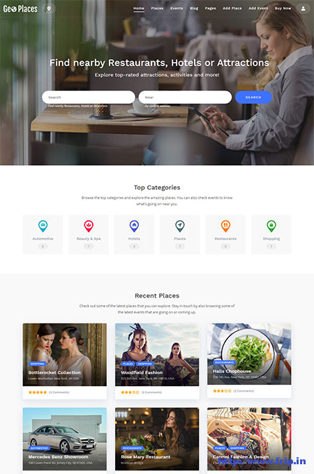 GeoPlaces5-Classic-Directory-WordPress-Theme