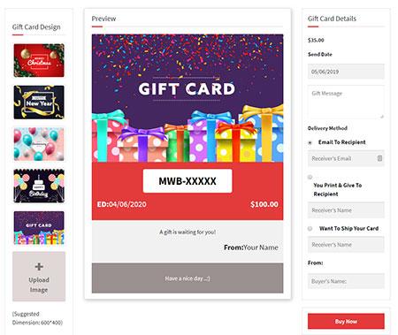 WordPress Gift Card Plugin