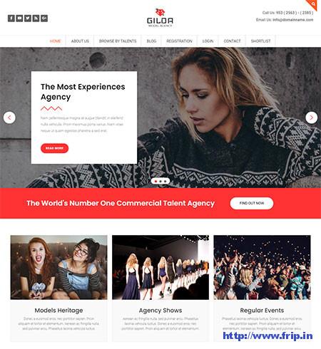 Gilda-Model-Agency-WordPress-Theme