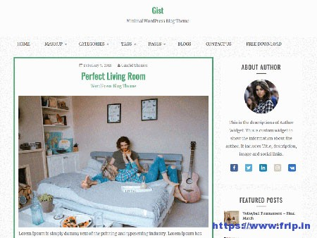 Gist-free-WordPress-Theme