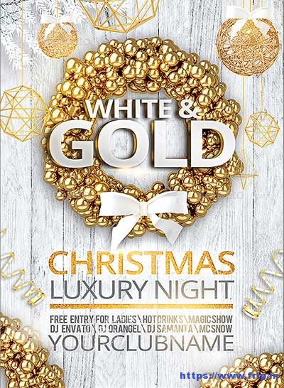 Golden-Christmas-Party-Poster