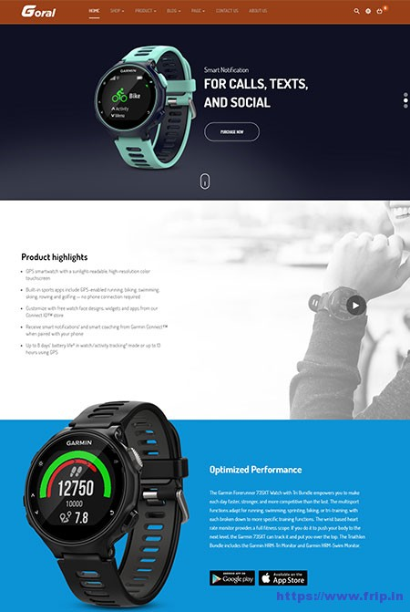 Goral-Smartwatch-Single-Product-WordPress-Theme