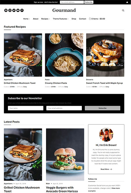 Gourmand-Recipe-Food-Blog-WordPress-Theme