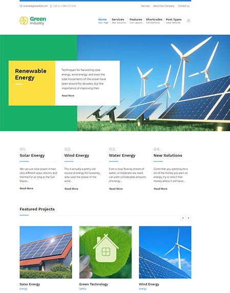 Green-Industry-Solar-Energy-Theme