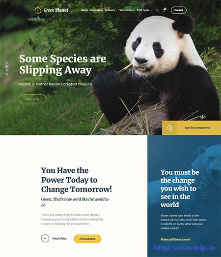Green-Planet-Environmental-WordPress-Theme