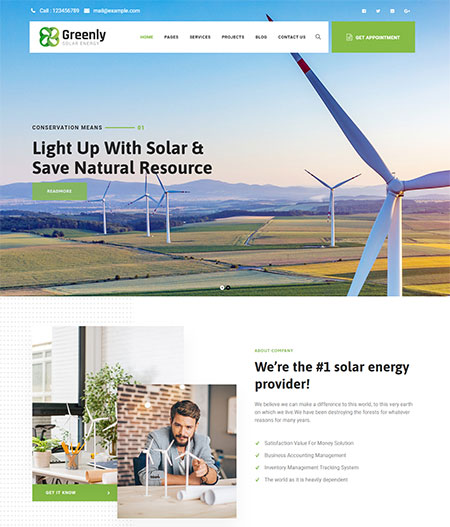 Greenly-Solar-Energy-WordPress-Theme