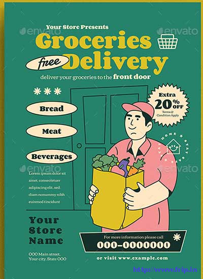 Groceries-Delivery-Flyer