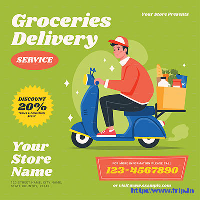 Groceries-Delivery-Service-Flyer