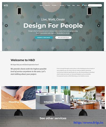 H-&-D-Interior-Design-WordPress-Theme