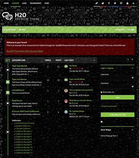 H2O-Gaming-phpBB-Theme