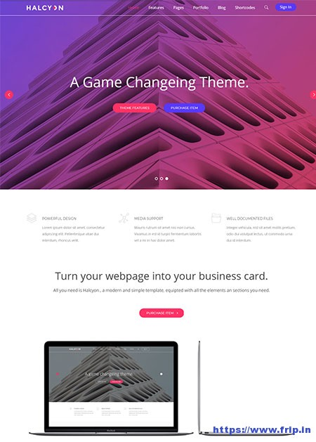 Halcyon-Multipurpose-Website-Template