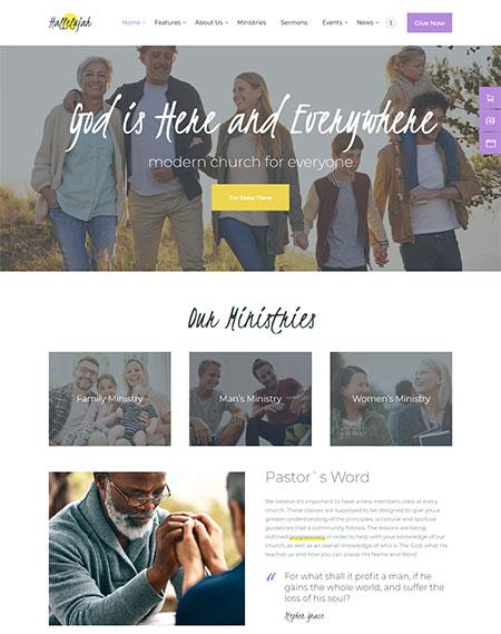 Hallelujah-Church-WordPress-Theme