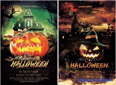 Halloween-Flyer-Bundle