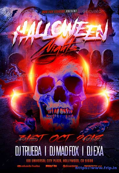Halloween-Nights-Party-Flyer