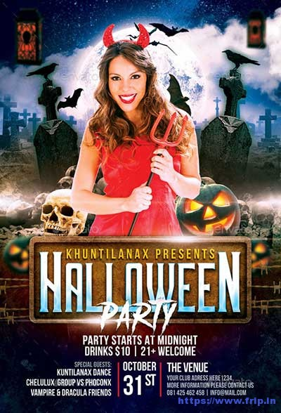 Halloween-Party flyer